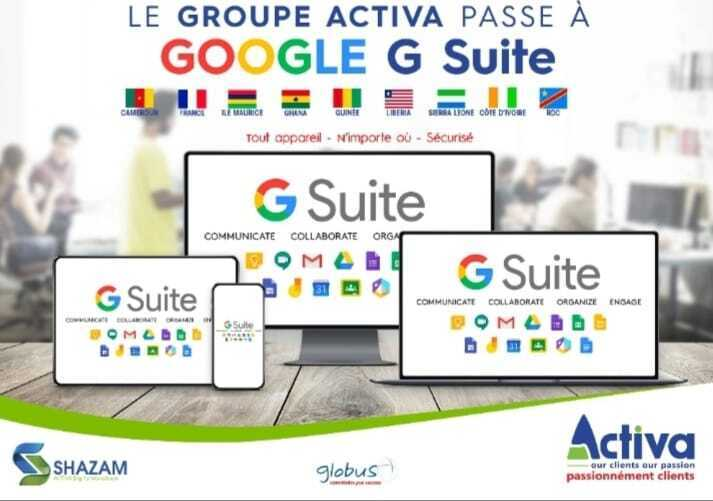 The ACTIVA Group switches to GOOGLE G-Suite