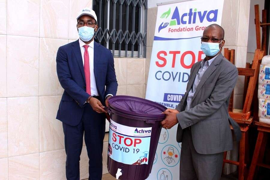 Fight against COVID 19: Donation from Activa Assurances Cote d'Ivoire to Youpougan